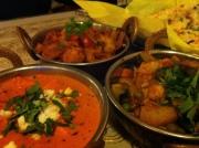Taj Mahal Paneer Makhani, Mixed Vegetarian Curry and Aloo Gobi