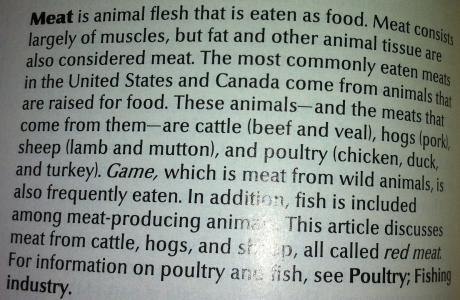 1988 World Book Meat Definition