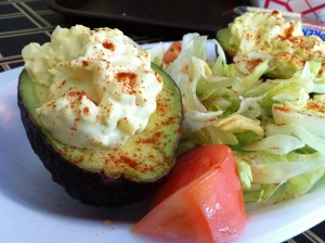 Corner Pocket Stuffed Avocado with Egg Salad