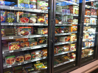 Central Market Frozen Food Display