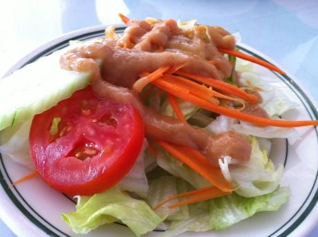 Thai Soon's Salad with Peanut Sauce