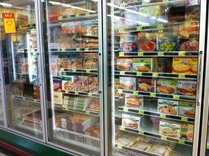 Whole Foods Market's frozen meals display
